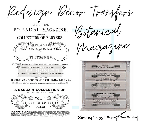 BOTANICAL MAGAZINE  -  Redesign Decor Transfers