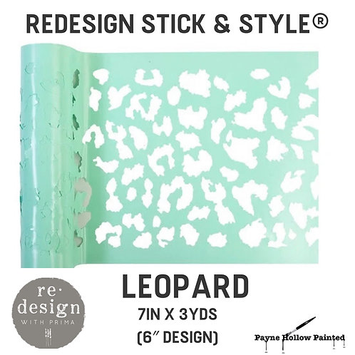 LEOPARD Redesign Stick & Style® -1 Roll– 7in X 3yds (6″ Design)