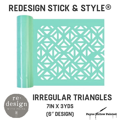 IRREGULAR TRIANGLES  Redesign Stick & Style® -1 Roll– 7in X 3yds (6″ Design)