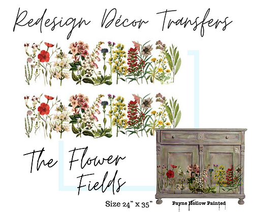 THE FLOWER FIELDS  -  Redesign Decor Transfers