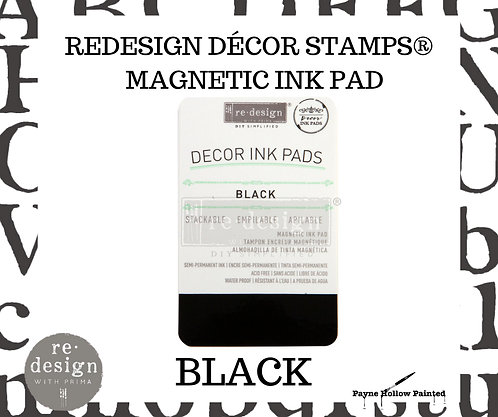 BLACK - Magnetic Ink Pad from Redesign Decor Stamps
