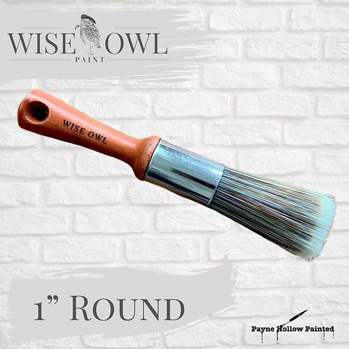 "1"" ROUND BRUSH Wise Owl Premium Brushes"