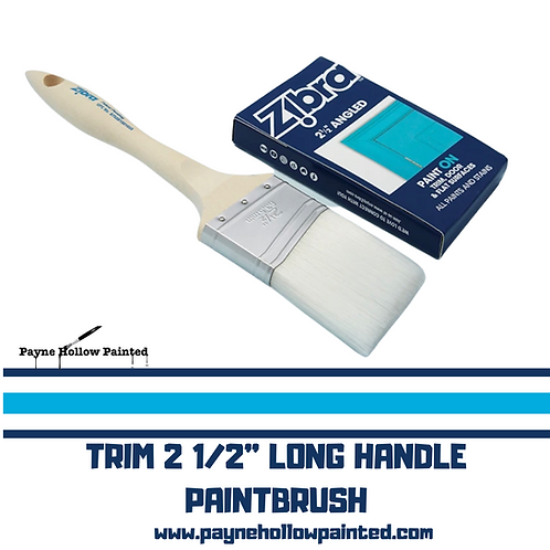 "ZIBRA TRIM  2 1/2""  LONG HANDLE PAINTBRUSH"