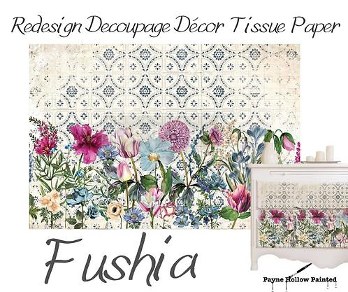 FUCHSIA  - Redesign Decoupage Tissue Paper