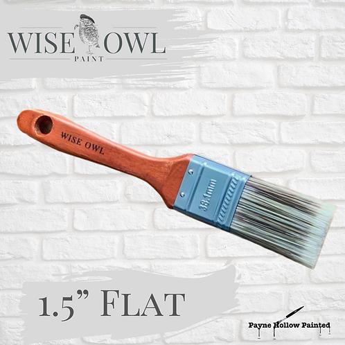 "1.5"" FLAT BRUSH  Wise Owl Premium Brushes"