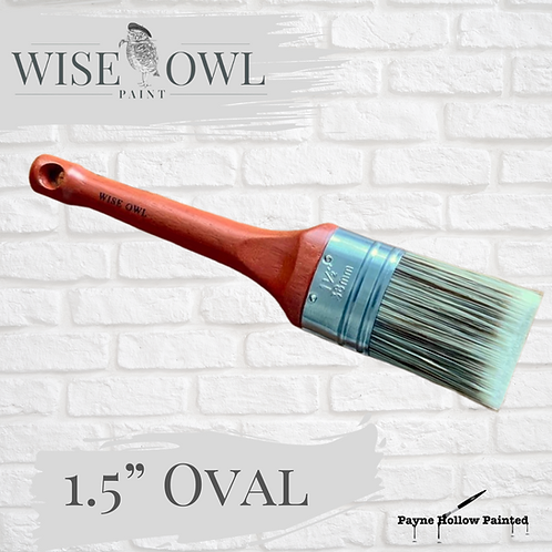 "1.5"" OVAL BRUSH  Wise Owl Premium Brushes"