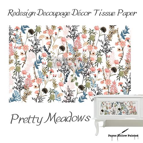 PRETTY MEADOWS-  Redesign Decoupage Tissue Paper