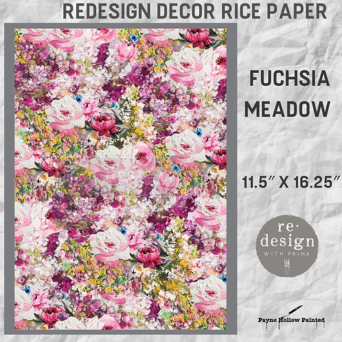 FUCHSIA MEADOW - Redesign Décor Rice Paper
