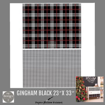 GINGHAM BLACK - Redesign Décor Transfers®