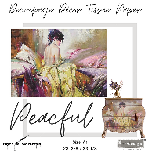 PEACEFUL - Redesign A1 Decoupage Tissue Paper