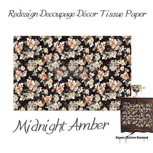 MIDNIGHT AMBER -  Redesign Decoupage Tissue Paper