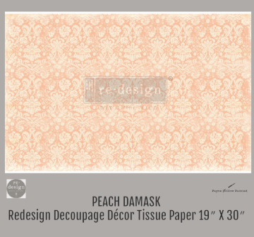 Peach Damask - Redesign Decoupage Paper