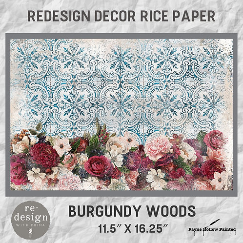 BURGUNDY WOODS  - Redesign Décor Rice Paper