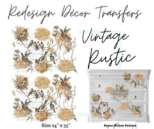 VINTAGE RUSTIC  -  Redesign Decor Transfers