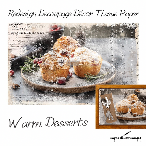 WARM DESSERTS - Redesign Decoupage Tissue Paper