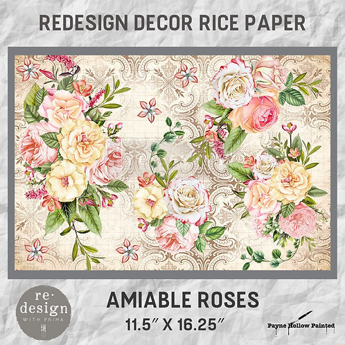 AMIABLE ROSES - Redesign Décor Rice Paper