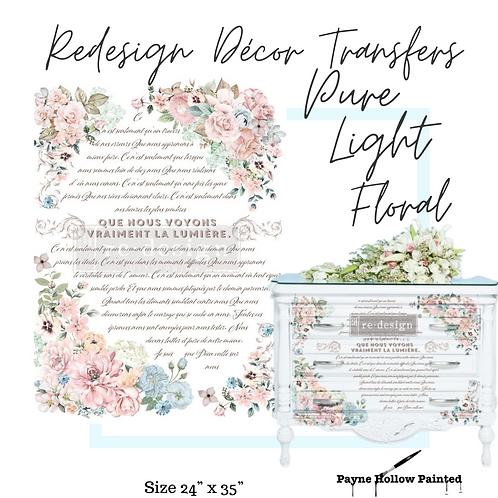 Pure Light Floral -  Redesign Decor Transfers