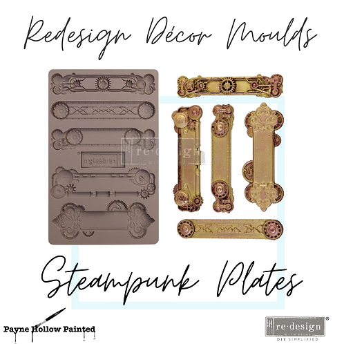 STEAMPUNK PLATES   -  Redesign Decor Moulds®