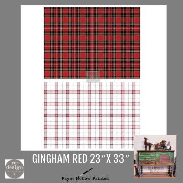GINGHAM RED - Redesign Décor Transfers®