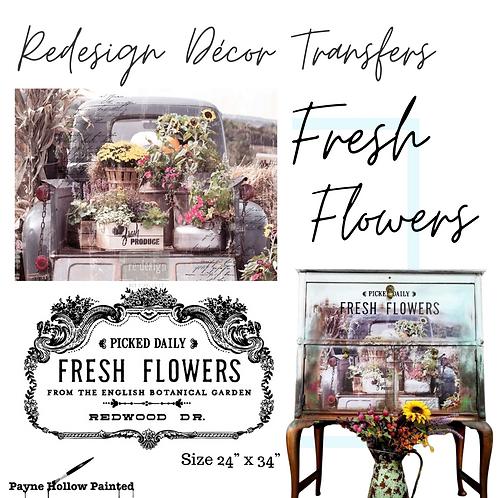 FRESH FLOWERS  -  Redesign Decor Transfers®