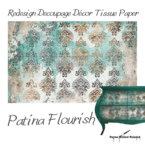 PATINA FLOURISH -  Redesign Decoupage Tissue Paper