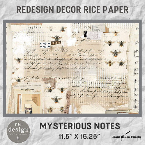 MYSTERIOUS NOTES  - Redesign Décor Rice Paper