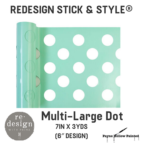 MULTI-LARGE DOT Redesign Stick & Style® -1 Roll– 7in X 3yds (6″ Design)