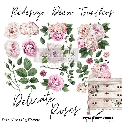 DELICATE ROSES - Redesign Decor Transfer