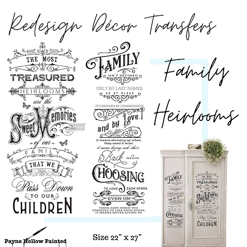 FAMILY HEIRLOOMS - Redesign Décor Transfers®