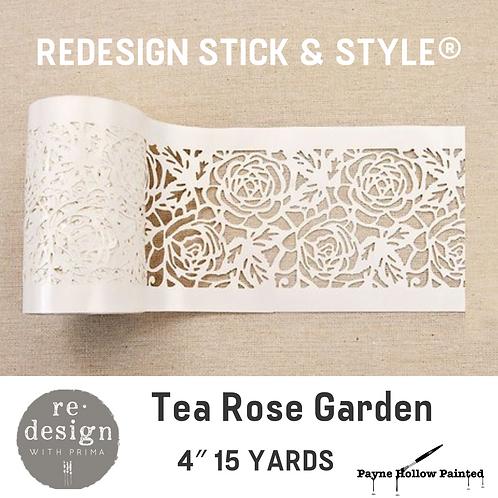 TEA ROSE Garden - Redesign Stick & Style® 4″ 15 YARDS