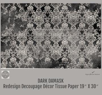 DARK DAMASK - Redesign Decoupage  Paper