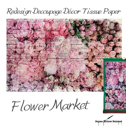 FLOWER MARKET - Redesign Decoupage Tissue Paper