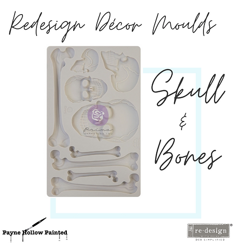 SKULL AND BONES by FINNABAIR - Redesign Decor Moulds®