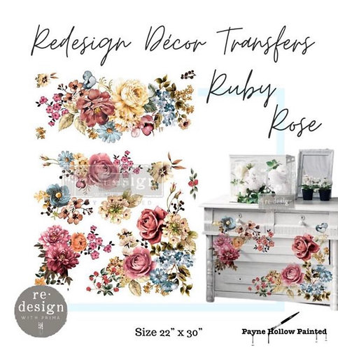 RUBY ROSE 22″X 30″- Transfer– Redesign with Prima  22″x30″