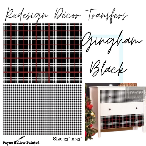 GINGHAM BLACK - Redesign Décor Transfers®