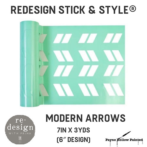 MODERN ARROWS  Redesign Stick & Style® -1 Roll– 7in X 3yds (6″ Design)