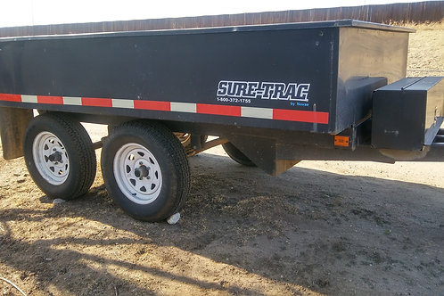 2018 Sure-Trac 6x10' SD Deckover Dump Trailer