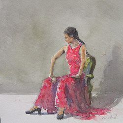 nº197 Bailaora con traje rojo
