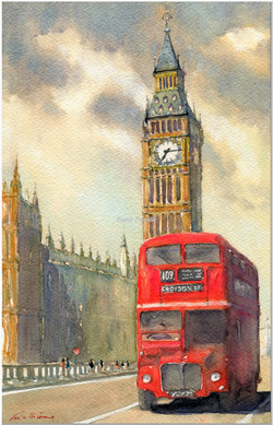 86  O BUS BIG BEN LONDON