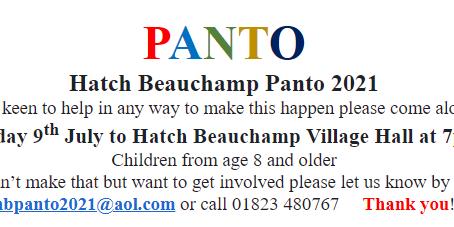 Panto Planning!