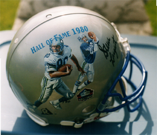 Largent Seahawks painted helmet