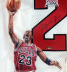 Close up MJ painted jersey
