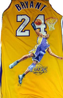 Kobe painted jersey