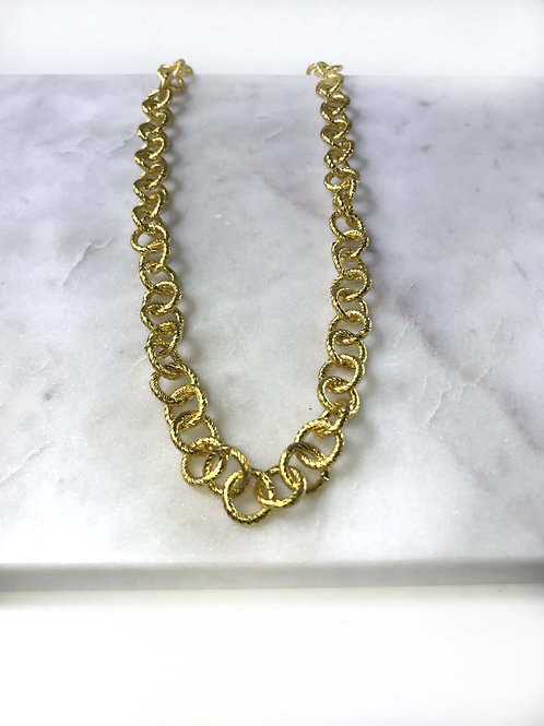 gold buckle chain necklace