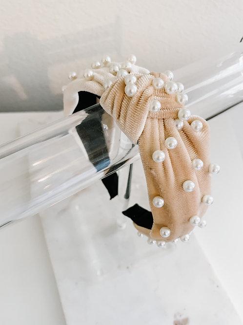 Cream Pearl Headband