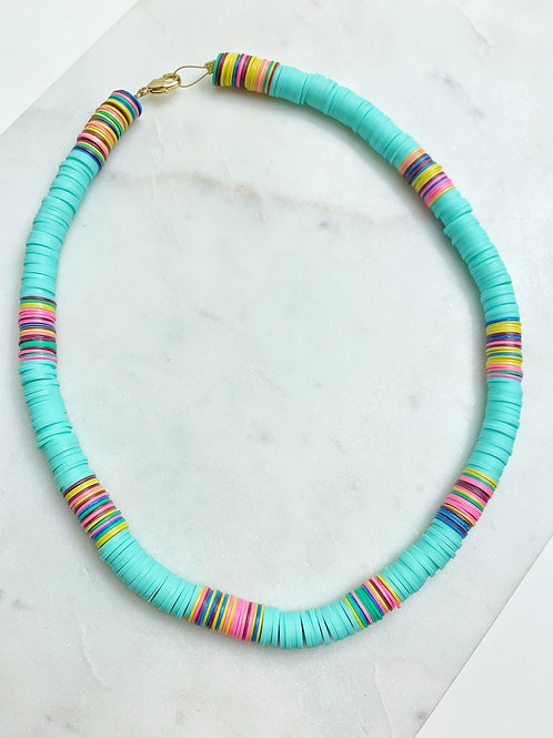Turquoise 8mm Heishi Necklace