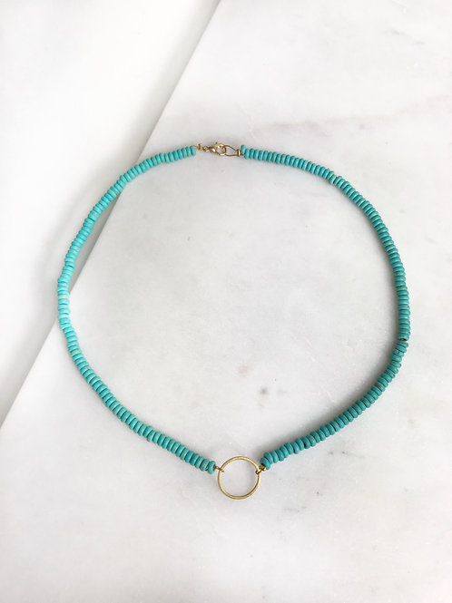 turquoise open circle