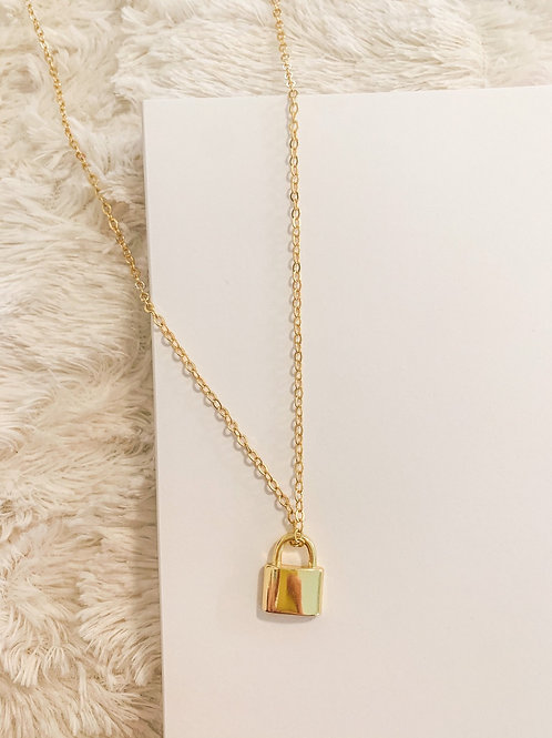 Lock it in Place Necklace