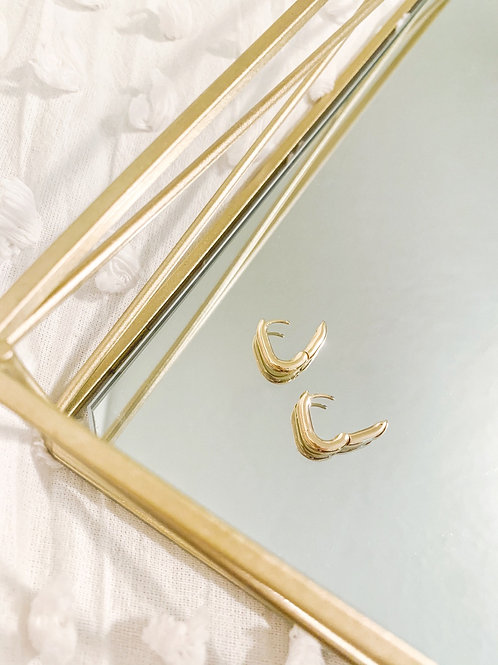 Oval Clasp Hoops