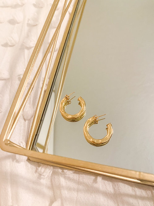 Medium Gold Foil Hoops